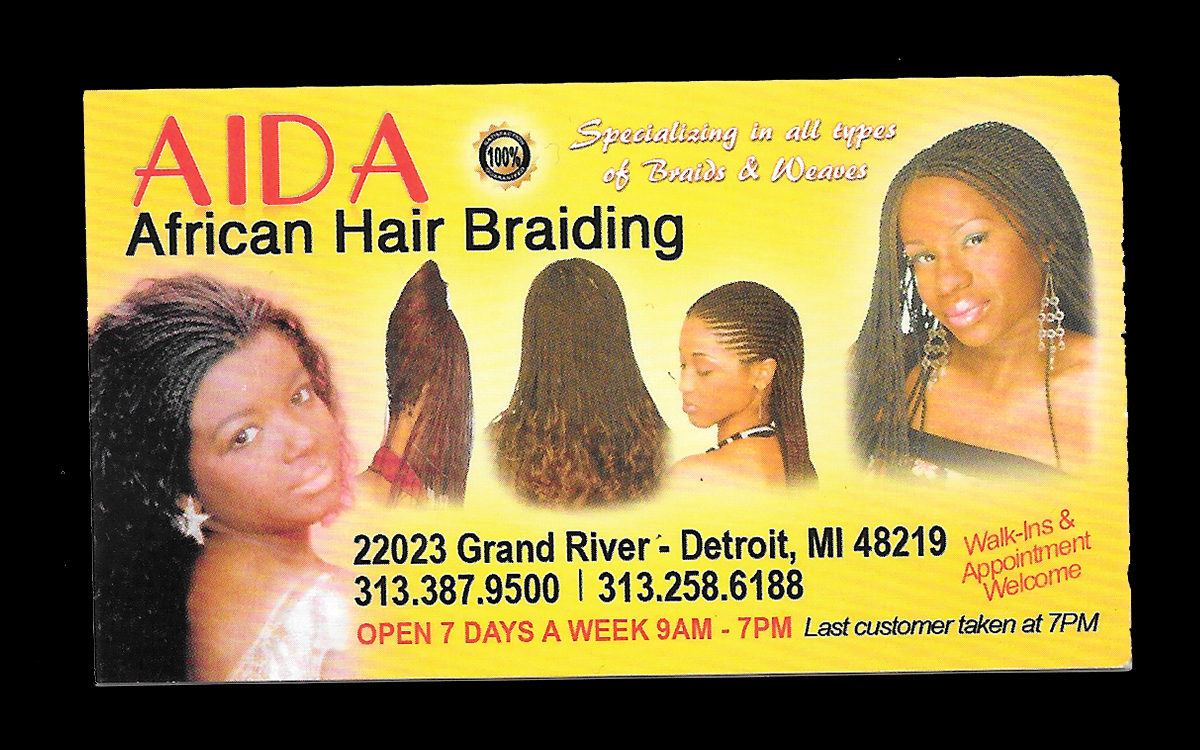 hair braiderbusiness cards | Nontsikelelo Mutiti