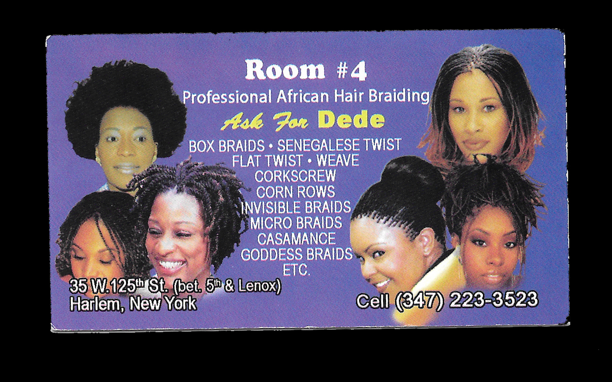 Hair Braider Business Cards