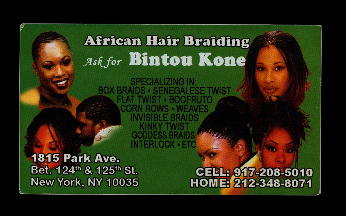 Hair Braiderbusiness Cards Nontsikelelo Mutiti